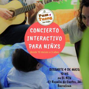 Pum y Tuang en concierto interactivo para niñxs! @ El Niu